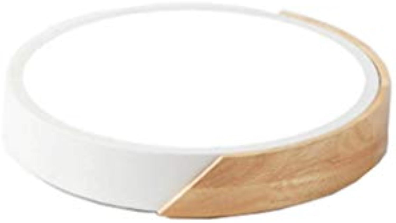 Moderne Log Wohnzimmer Deckenleuchte Macaron Farbe Ultradünne LED Runde Schlafzimmerlampe (Farbe   Weiß24-Doppelt)