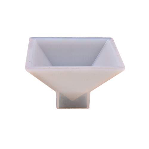 SUPVOX Molde de silicona con forma de pirámide de cristal y resina...