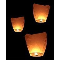 Flying Sky Lanterns, Traditional Chinese Flying Glowing Lanterns, Four-Pack