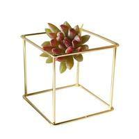 ADSIKOOJF smeedijzeren bloem standaard voor bruiloft geometrische muur opknoping Succulente planten pot bloempot container huis decoratie goud
