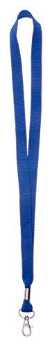Karteo® Schlüsselband   Schlüsselbänder   Band   Lanyard 16 mm   königsblau unbedruckt   mit Karabinerhaken   für Kartenhuellen Ausweise Kinder EC Kartenhüllen Handy Autoschlüssel