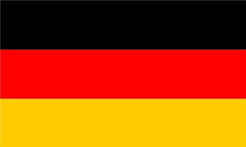 Premium Aufkleber - 8,4x5,4 cm - Fahne / Flagge von Deutschland ohne Wappen BRD Sticker Aufkleber Auto Motorrad Bike Autoaufkleber - Made in Germany