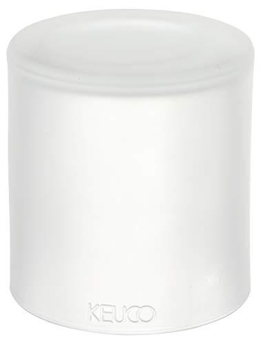 KEUCO Original Ersatz-Stülpbecher, Echt-Kristallglas weiß mattiert, Glasaufsatz, Ersatzglas für Lotionspender, Edition 300