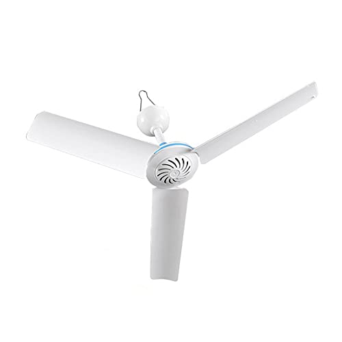 Xenomose Portable Ceiling Fan, Mini USB 3 Blade Hanging Camping Tent Fans USB Ceiling Fan for Indoor Outdoor Bedroom Infant Bed Camping Hanging Gazebo Fan