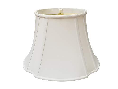 Royal Designs, Inc - Pantalla de esquina ovalada invertida, color blanco (7x9) x (12,75x15) x 10,75