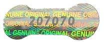 Holomarks 1000 St. Hologramm Etiketten, Siegel, Garantie, Aufkleber tamper evident dogbone mit Seriennummern 20x7mm