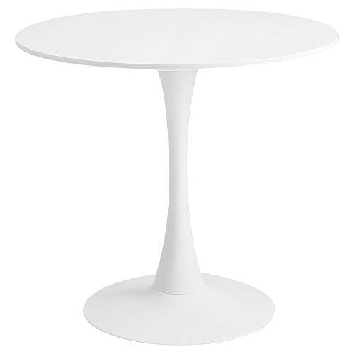 【Roomnhome】 丈夫な鉄製フレームと18mm厚のMDF天板、11kg DIYホーム&キッチン 高さ73cmの円形テーブル