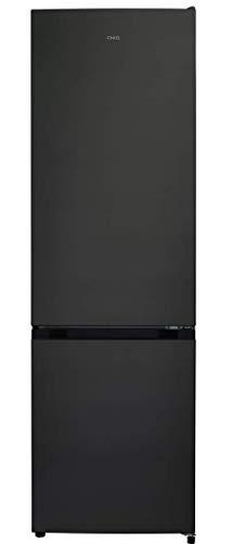 CHiQ FBM318NEI42N Freistehender Kühlschrank mit Gefrierfach 318L | Kühl-Gefrierkombination No frost mit moderner Inverter Technologie | leise 39 db | 185,5 x 59,5 x 64,2 cm (HxBxT), Inox Look
