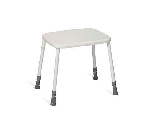 Nordic Hocker HEAVY Standard-Sitz Duschhocker bis 200 kg weiß Kunststoff