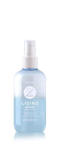 Kemon - Liding Nourish Spray 2Phase, Spray Idratante e Districante per Secchi, Crespi e Sfibrati con Burro di Karité, Senza Risciacquo - 200 ml
