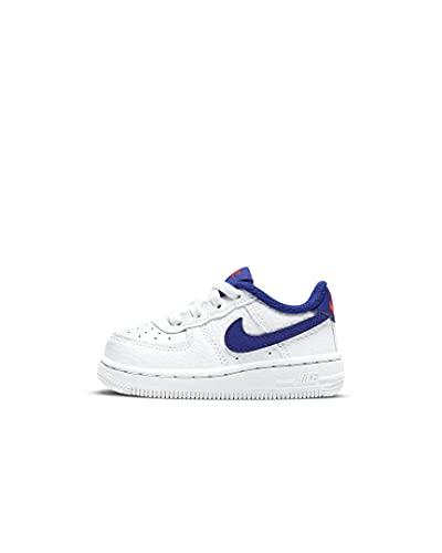 Nike Air Force 1 Toddler CZ1691-101 White Deep Royal Scarpa Bimbo Unisex (21 - White)