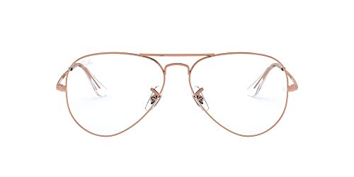 Ray-Ban Aviator-0rx64893094 Gafas, ROSE GOLD, 55 Unisex