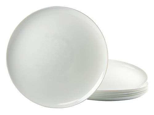 Lot de 6 Assiettes à Pizza Rond 32 cm Luminarc Verre Opale Blanc
