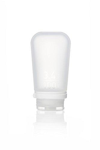 Humangear GoToob + Silikon Reise Flasche mit Verriegelung Gap, groß (3,4oz), farblos (transparent) - 1899068