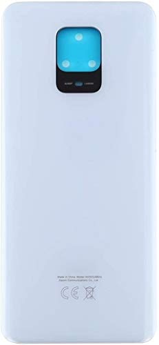 PaxProtect Ersatz-Akku-Schutzhülle, kompatibel mit dem Xiaomi Redmi Note 9 Pro, Rückseite aus Glas (Glacier White)