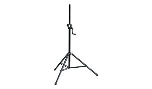 Konig & Meyer 21300-009-55 1385-2180mm Soporte de altavoz de acero ajustable - Negro