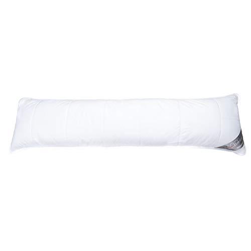 Traumschloss Comfort Faser Seitenschläferkissen | Füllung: 100% Hyper WASH Faserbällchen | Bezug aus 100% Baumwolle versteppt auf 100% Polyester mit Aloe Vera veredelt | 40x140cm
