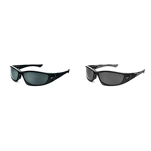 PEGASO 990.99.5305 990.01-Gafas Proteccion Gama Solar Sun Modelo F1 Lente Pc Polarizada, Negro, L + 990.38.1305 990.02-Gafas Proteccion Gama Sun Modelo F1 Lente Pc Solar Gris Antivaho, Negro, L