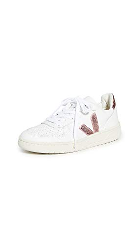 Veja Women's V-10 Sneakers, Extra White/Nacre, 8 Medium US