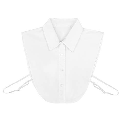WINOMO Abnehmbares Hemd Kragen Gefälschte Falsche Faux Kragen Frauen Halbes Hemd Abnehmbare Gefälschte Kragen Abnehmbare Choker Bluse Top für Damen