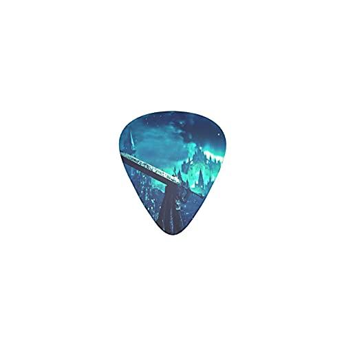 Berserk - Cejilla para guitarra acústica y eléctrica, para adolescentes, púas, bajo guitarra, ukelele, mandolina, cejilla de guitarra