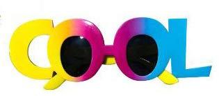 ZTFay Neuheit Brille Lustige Brille Kaufen Sie eine bekommen DREI kostenlose Hawaii Brille Cocktail Brille lustige Brille Party Strand Limonade cool COOL Tanzparty Brille, A.