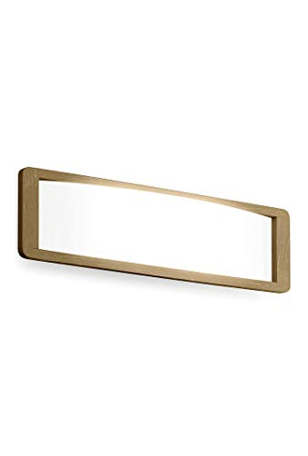 Solido houten glas wandlamp in wit, wit | Handgemaakt in Italië | Wandlamp Modern Design Dimbaar | Lamp E14