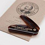 CAPTAIN FAWCETT Folding Pocket Moustache Comb / CAPTAIN FAWCETT Folding Pocket Schnurrbart Kamm 117mm