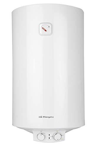 Orbegozo TRM 104 - Termo eléctrico, 100 litros, bajo consumo, esmaltado vitrificado, función ON/OFF, ajuste ECO, IP-X4, temperatura máx. 75ºC, instalación vertical, 1500 W