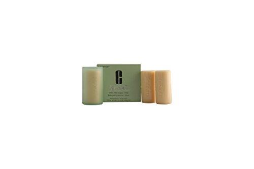 Clinique Anti-Blemish 3 pequeños jabones para cara y cuerpo con jabonera, piel mixta, 150 g