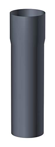 Fallrohr 80 mm Länge 2 Meter Aluminium Anthrazit für Dachrinnensystem NW 100 Anthrazit