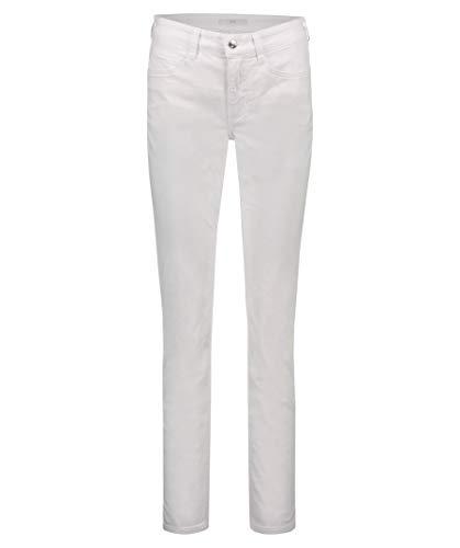 Mac Damen Jeans Angela Slim Fit Weiss (10) 44/32