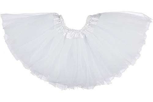 Dancina Falda Tutú Clásica de Ballet para Bebés 6-24 Meses Blanco Puro