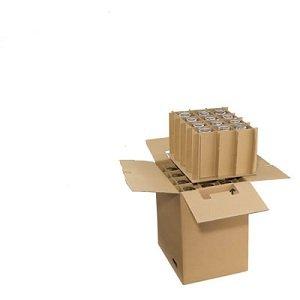 1 Verpackungseinheit (2 Stück) Gläserkartons, 2-wellig<br/>435 x 340 x 475 mm<br/>für 24 St. Gläser <br/>max. Glas-Ø 9,0 cm<br/>max. Glashöhe: 23,0 cm