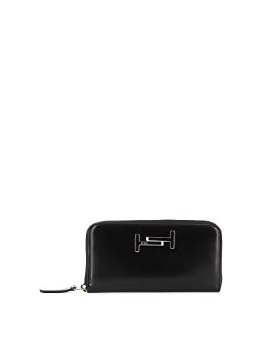Tod's Luxury Fashion Damen XAWAMEA0400M73B999 Schwarz Leder Brieftaschen | Herbst Winter 19