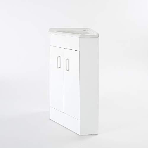 Mueble de Lavabo de Esquina con 2 Puertas