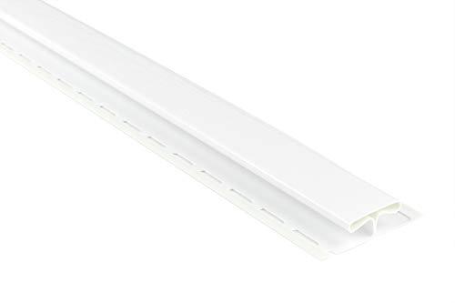 Verbinderprofile für Kunststoffpaneele | weiß | Verkleidung | umweltresistent | PVC | außen | Dachkasten | Soffit | Zubehör | 200 x 8,2 cm