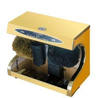 ZHAOJCXJ Multifunktionsschuh-Poliermaschine, Lederne Schuh-Bürste, Schuhcreme-Maschine, beweglicher Edelstahl-hoher Grad-Schuh-Poliermittel (220v / 45w) (Farbe : Silber)