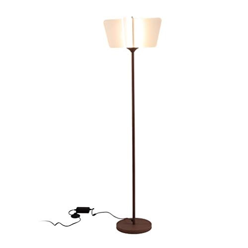 LEZDPP Lámpara de pie Moderna Minimalista Creativo nórdica acrílico Pantalla Vertical de Ahorro de energía de la lámpara Dormitorio lámpara de cabecera Lámparas de pie (Size : White Light)