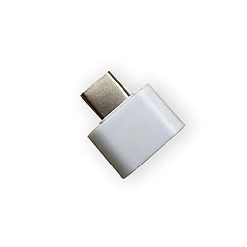 CHENGHAN Adaptador Universal de USB a Tipo C para Mini Mini-C Jack Splitter Smartphone USB C Conectores Conectores OTG (Color : White)