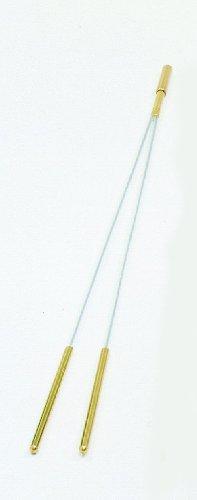 Welten der Mystik Varilla de Zahori - Mango de Latón con Punta insertable 42,5 cm