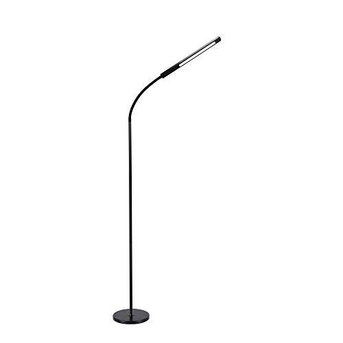 Stehlampe, Dodocool Stehlampe LED Stufenlos Stehleuchte Dimmbar 12W Leselampe für Schlafzimmer wohnzimmer Flexibler Schwanenhals 4 Farbtemperaturen 4 Stufe Helligkeit Memory- und Touch-Funktionen