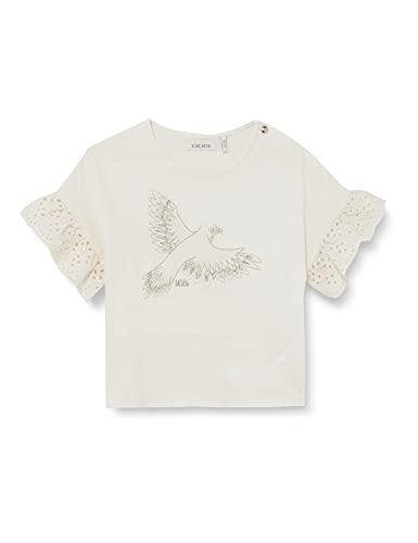 IKKS tee-Shirt imprimé oiseau et Broderie Anglaise Camiseta, Blanco Hueso, 3 Mes...