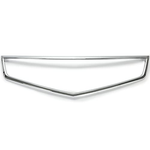 HECASA Chrome Grille Trim Grill Compatible with 2006 2007 2008 Acura TSX Replacement for AC1210108 71122SECA02
