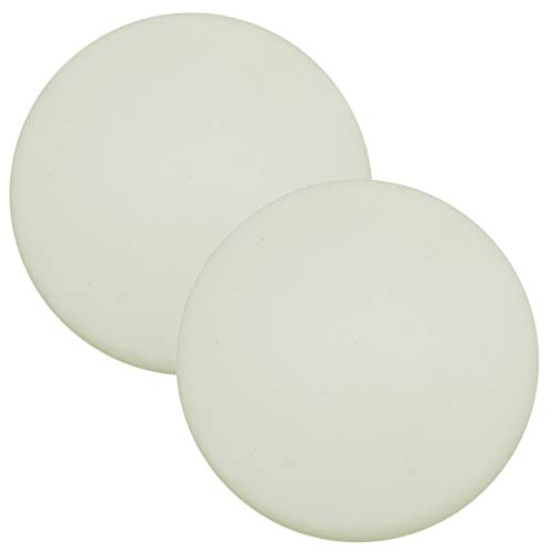 Premium Quality Large 2 Pcs Door Bumper Self Adhesive Sticker Strong Stickiness Wall Protector Guard Door Knob Stopper 3.2 Inches Rubber Round White Silicone Door Handle Bumper Set