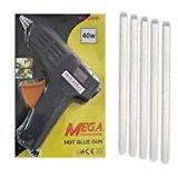 pcshop 40W Hot Melt Glue Gun With 5 pieces Big Glue Sticks