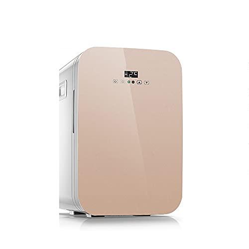 QPMY Mini Refrigerador para Automóvil, 7 Pies Cúbicos De Refrigerador Pequeño, Energía Dual Fría Y Caliente, Panel Táctil, Estante Extraíble, Silencioso Y Ahorrador De Energía,Oro