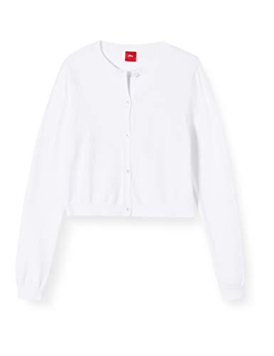 s.Oliver Mädchen 73.911.64.2060 Strickjacke, Weiß (White 0100), 176 (Herstellergröße: XL/REG)