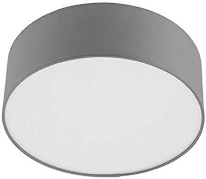 INSPIRE - Deckenleuchte aus Stoff SITIA Ø 29 cm - Für E27 Glühlampe - Grau