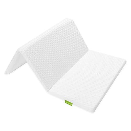 Mother Nurture Premium Foam Foldable Travel Cot Mattress, White, 95 x 65 x 2.5cm